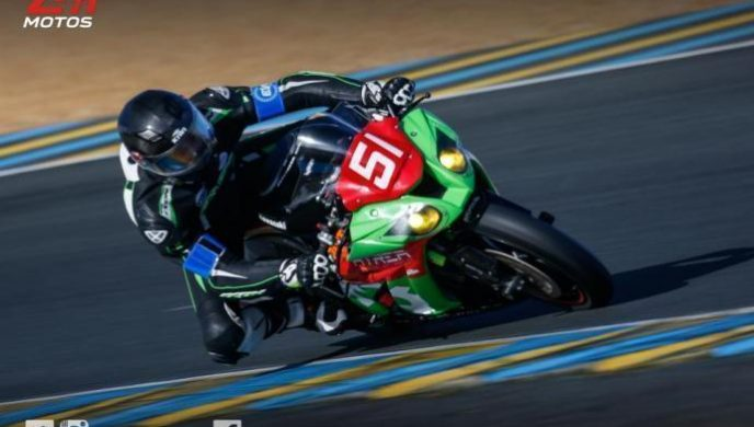 Baptiste REGOUBY lors des 24H motos