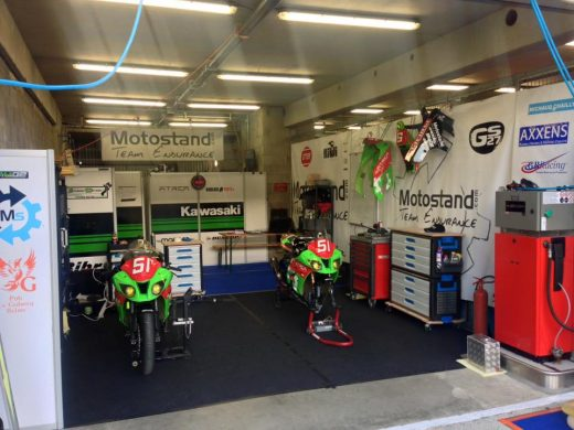 Box team Motostand Endurance 24H du Mans