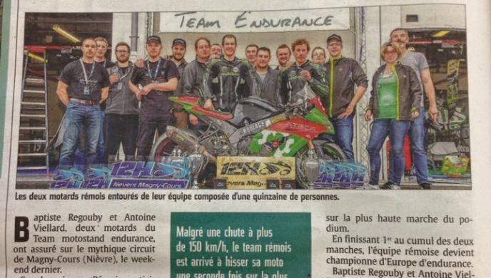 Team Motostand Endurance aux 12H de Magny-Cours 2016