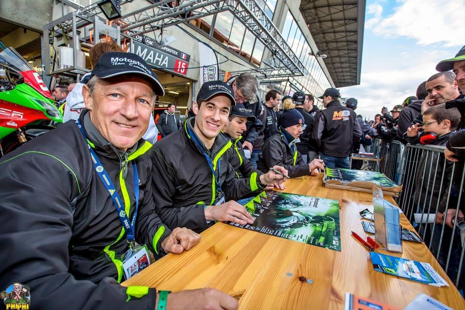 Séance de dédicaces 24H moto 2016 Team Motostand Endurance